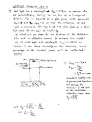 ESE319 SAMPLE PROBLEM SET 9