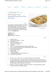 Healthified Spinach and Rice Casserole 2