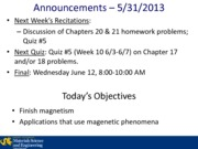 Lecture 24A - 5-31-2013 Applications Using Magnetic Phenomena(1)