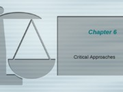 Critical Approaches 2009