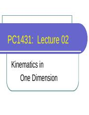 Wang Qinghai-L02  Kinematics in 1D.ppt