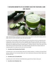 7 AMAZING BENEFITS OF CUCUMBER JUICE FOR YOUR SKIN.docx
