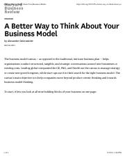 A Better Way to Think About Your Business Model