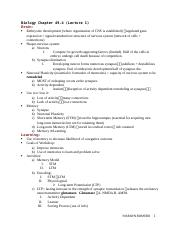 Biology 115 Notes