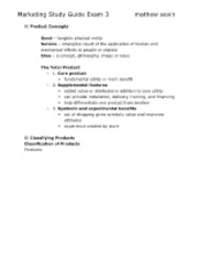 marketing study guide exam 3