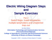 Diagrams 2 Switches and Receptacles