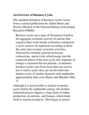 An Overview of Business Cycles