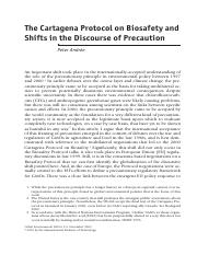 Andree, P. (2005) The Cartagena Protocol on Biosafety and Shifts in the Discourse of Precaution.pdf
