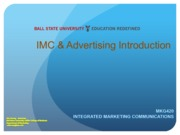 Integrated Marketing Communications Introduction Lecture Slides
