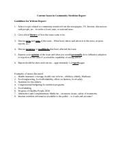 FND 452 Online Current Issues  Report Assignment.doc