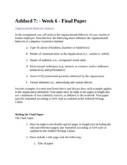 bus610 ashford university week 6 Your paper must be formatted according to apa style as outlined in the ashford writing center  this tutorial contains 3 papers of this assignment bus 610 week 6.