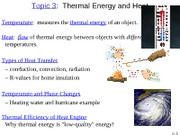 Topic 3 Thermal Energy and Heat