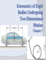 ENGR2100 Chp 7 Kinetics of RB Undergoing 2D Motion_2015FA