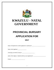 Annexure A  Application Form 2017