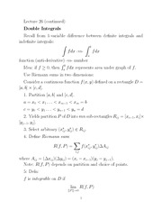 double integrals notes