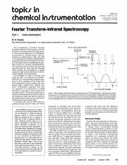 W. D. Perkins. (January 1986). Fourier Transform-Infrared Spectroscopy Part I. Instrumentation. Jour