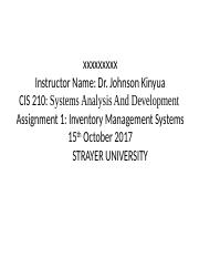 Assignment 1 - Inventory Management Systems.pptx
