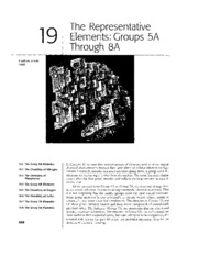 Chapter 19 - The Representative Elements Groups 5A Through 8A