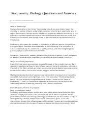 Biodiversity%3A__Biology_Questions_and_Answers-04_05_2013
