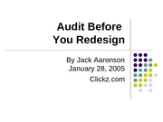 Audit Before You Redesign