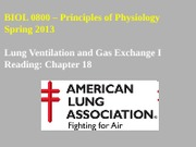 18 Lung Ventilation and Gas Exchange I