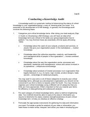 Guide to conduct Knowledge Audit