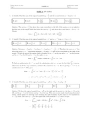 Math 1225 - 2012 Exam 2 Solutions
