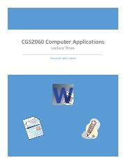 CGS2060 Lecture Three.pdf