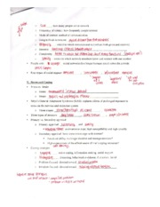 exam 2 review sheet