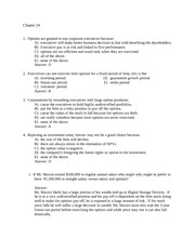 Chapter 24  - practice problems