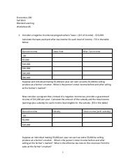 ECON 200 Worksheet 5