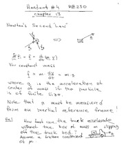 Lecture Notes on Newton's Second Law