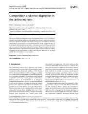competition and price dispersion in the airline markets