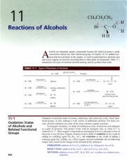 Ch 11 - Reactions of Alcohols