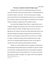 paper on ming voyages