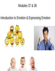 37 & 38 Intro to emotion and expressing (3)