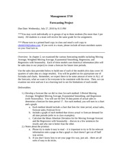 Management 3710 - Forecasting Project (Due 07-27)