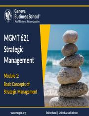 Module 1 - Basic Concepts of SM