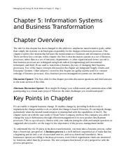 Chapter 5-Information Systems and Business Transformation.docx