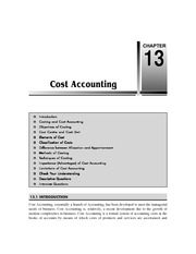 Cahpter 13   Cost Accounting
