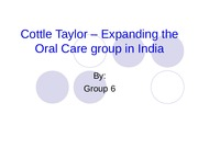 cottle taylor expanding oral care