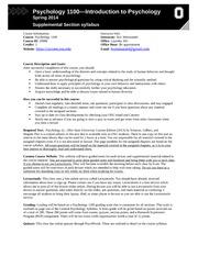 PSYCHOLOGY 1100 - Ohio State University - Course Hero
