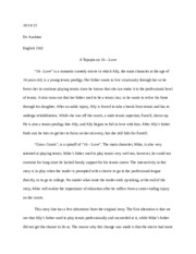 Project 2 Grass Courts Reflective Essay