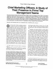 CMOs_A Study of their Prescence in Firms' TMTs