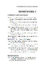 HOMEWORK 1 AND 2 FOR FUNDAMENTALS OF ELECTRONICS