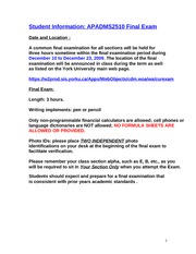 ADMS_2510_Fall_2009_Final_Exam__Student_Information