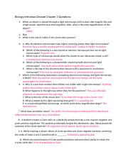 Biology Infectious Disease Chapter 3 Questions