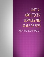 7.Scope of work of an architect – Schedule of Services