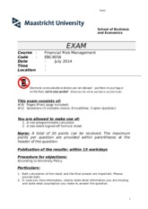 Exam FRM July 2014