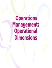 Chapter-13-Operations Management Operational Dimensions
